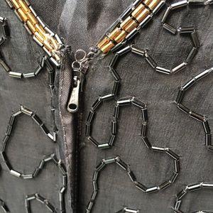 Stenay Dresses - Vintage Stenay Petite black silk beaded dress P12